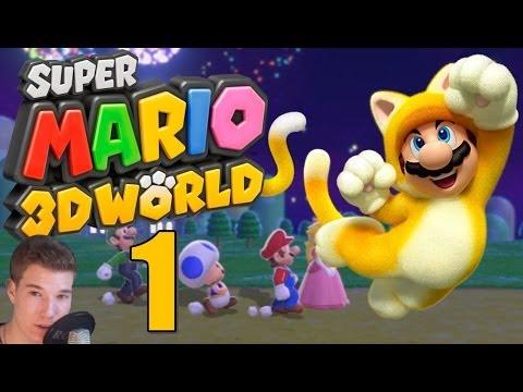 Let's Play Super Mario 3D World [Facecam] Part 1: Miau Miau Miau !