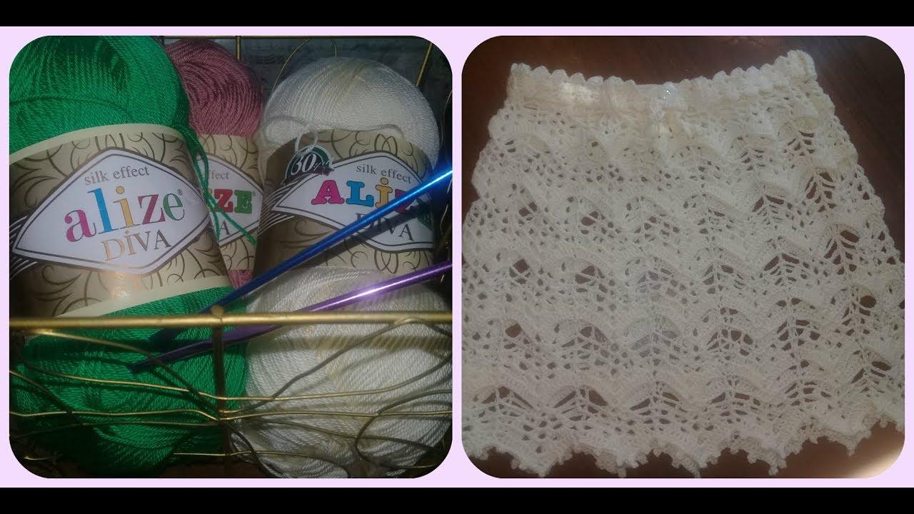7ecdbf6aba4 МК. Ажурная юбка крючком .Красивая и не сложная. - YouTube