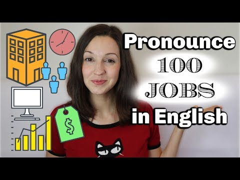 How To Pronounce 100 JOBS In English