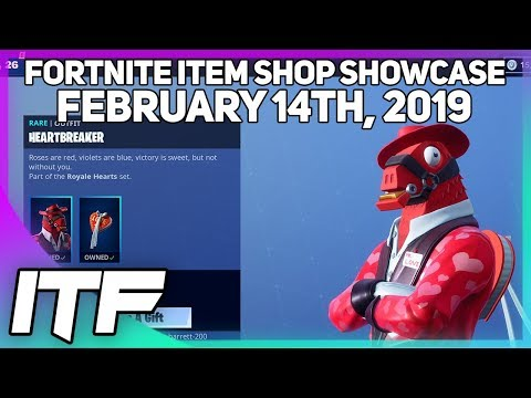 Fortnite Item Shop *NEW* VALENTINES SKINS! [February 14th , 2019] (Fortnite Battle Royale)