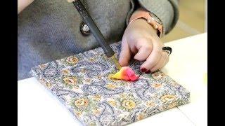 Цветы из ткани. Обучение. Как проходят занятия в школе Алены Абрамовой