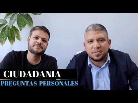CIUDADANIA AMERICANA 2019    PREGUNTAS PERSONALES (RESPUESTAS)