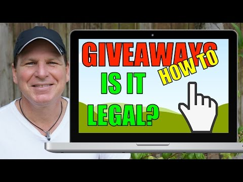 How To Do GIVEAWAYS, Part 1: Is Your Giveaway Legal?  (YouTuber Law #51)