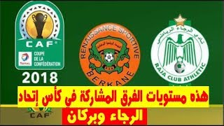 الكاف يكشف على مستويات الفرق المغربية قبل قرعة دور المجموعات - الرجاء وبركان