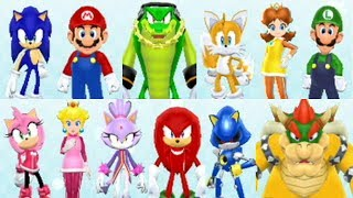 Mario and Sonic at the Olympic Winter Games (Wii) - All Characters