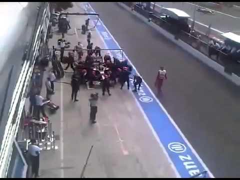 Incidente CENSURATO di Sakon Yamamoto nel pit stop del Gp di Monza