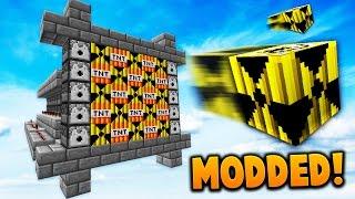 MODDED TNT WARS NUKE CANNON BREAKS SERVER! | Minecraft MODDED TNT WARS w/ LandonMC, Dawn & ItzMaxK