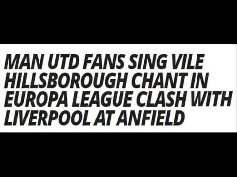 Man Utd Fans Hillsborough Chant At Anfield (Audio Report) Liverpool 2 Man Utd 0