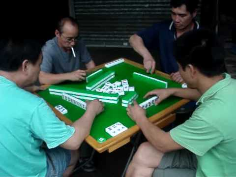 Mahjong Street Game in Hong Kong