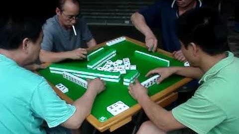 Mahjong Street Game in Hong Kong