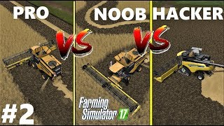 Farming Simulator 17 : NOOB vs PRO vs HACKER | Gameplay Comparison #2