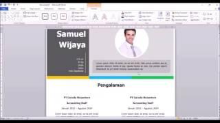 TUTORIAL MEMBUAT CV MENARIK DENGAN MS WORD