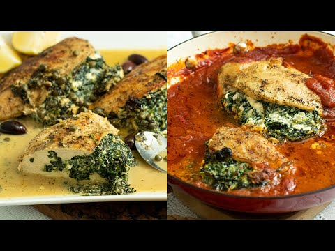 Green spinach and Ricotta Stuffed Chicken Healthy Stuffed Chicken Recipe