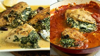 Spinach & Feta Stuffed Chicken: Quick & Easy Meal!