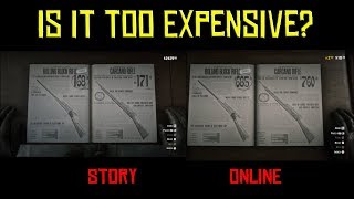 Comparing The Prices In Red Dead Online And Story Mode, Is It Too Expensive?