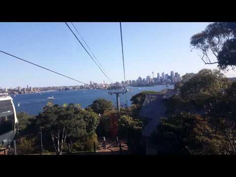 Cable Car Ride back sydney harbour