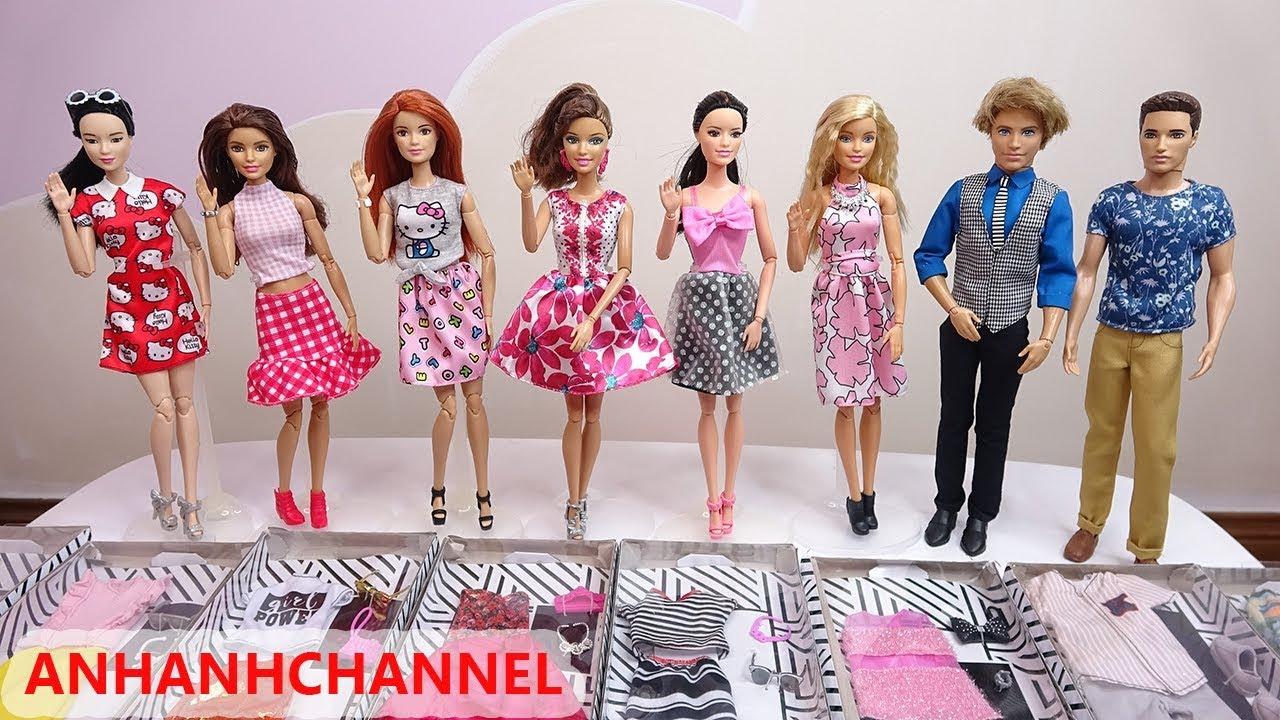 Thay Đổi Trang Phục Mới Cho Búp Bê Barbie Ken và các bạn – Những Bộ Quần Áo Mới của Búp Bê