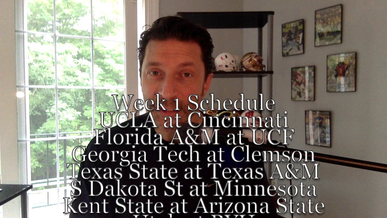 College Football Week 0 TV Schedule