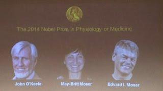 Нобелевскую премию по медицине поделили британец и два норвежца (новости) http://9kommentariev.ru/(http://www.epochtimes.ru ] Британский невролог Джон О'Киф и физиологи Эдвард и Мэй-Бритт Мозер из Норвегии удостоены..., 2014-10-06T17:45:54.000Z)