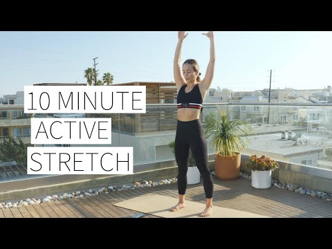 10 MINUTE ACTIVE STRETCH No equipment, full body, warm up or cool down | Dr. LA Thoma Gustin