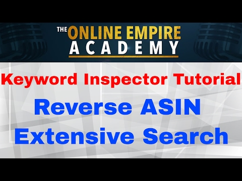 Keyword Inspector Tutorial: Reverse ASIN Extensive Search
