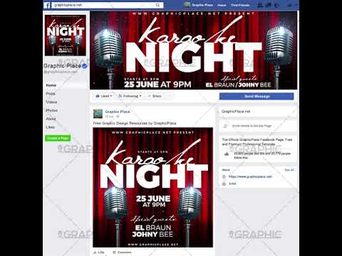 Karaoke Night - Social Media Video Template for Facebook