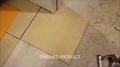 Cutting ceramic tile with MD tile nippers