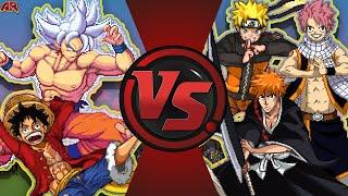 GOKU vs NARUTO vs LUFFY vs ICHIGO vs NATSU! ANIME MOVIE! Cartoon Fight Club MOVIE
