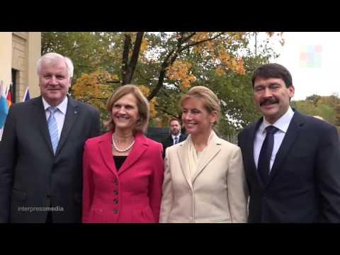 Horst Seehofer empfängt den ungarischen Staatspräsidenten János Áder in München
