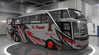 modifikasi bus ETS2 bus mod indonesia