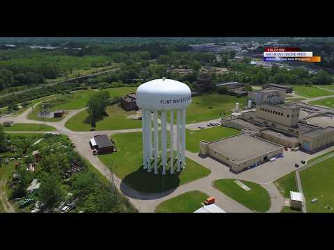 2018 Flint, Michigan WATER drone aerial footage - Michigan Drone Pros Photography