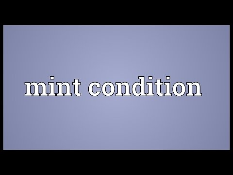 Mint condition Meaning