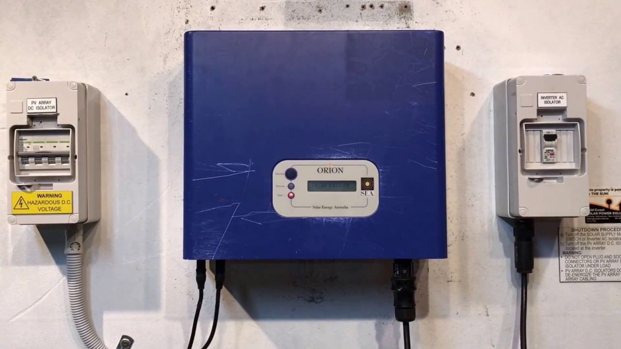 Sea Orion Solar Inverter Relay Failure Youtube Switch For