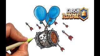 DESSIN BALLON A SQUELETTE !! CLASH ROYALE
