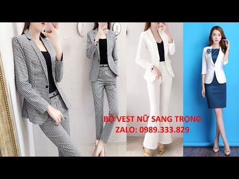 Mẫu Áo Khoác Vest Nữ Đẹp Nhất Kiểu Hàn Quốc 2019-2020 Cách điệu, Tay Lỡ Sang Trọng Tphcm, Hà Nội