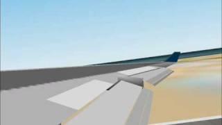 Pan-Am 747-400 landing at Honolulu.