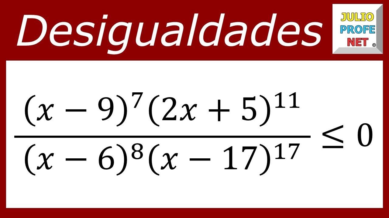 DESIGUALDADES RACIONALES - Ejercicio 6