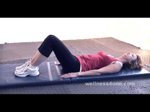 Half Sit-up Test by wellness4one.com - YouTube