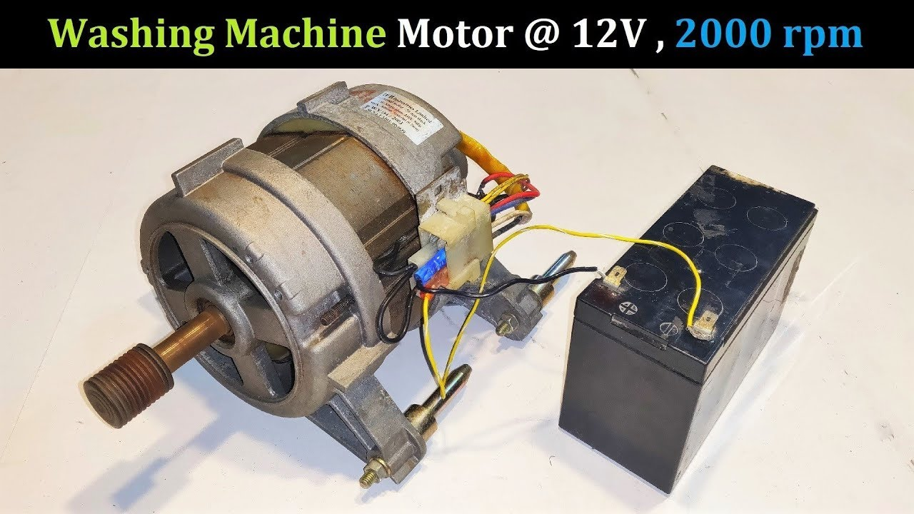 run a 220v washing machine motor at 12v dc ups battery. Black Bedroom Furniture Sets. Home Design Ideas