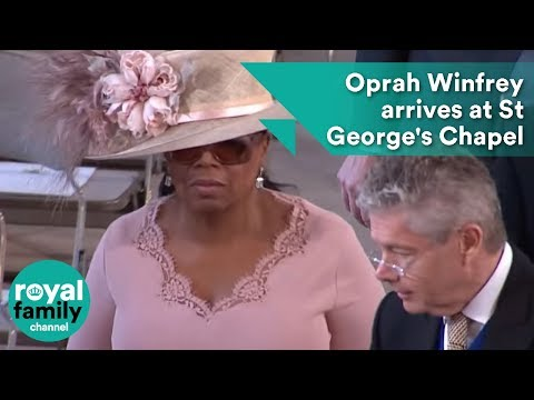 Oprah Winfrey arrives at Royal Wedding 2018 of Prince Harry and Meghan Markle