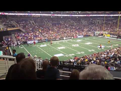 Arizona Rattlers Happy birthday Stryker and other mascots relay race