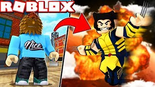 SUPER HERO TYCOON IN ROBLOX (WOLVERINE)