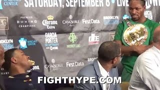 SHAWN PORTER AND ERROL SPENCE TALK TO EACH OTHER ABOUT FIGHTING NEXT; CLOWN THURMAN QUOTE