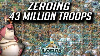 ZEROING 43 Million Troops - Lords Mobile
