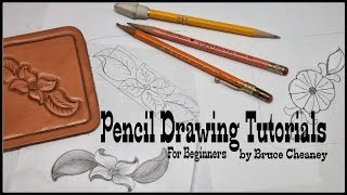 How to draw - leather tooling designs - how to draw for beginners - pencil drawing