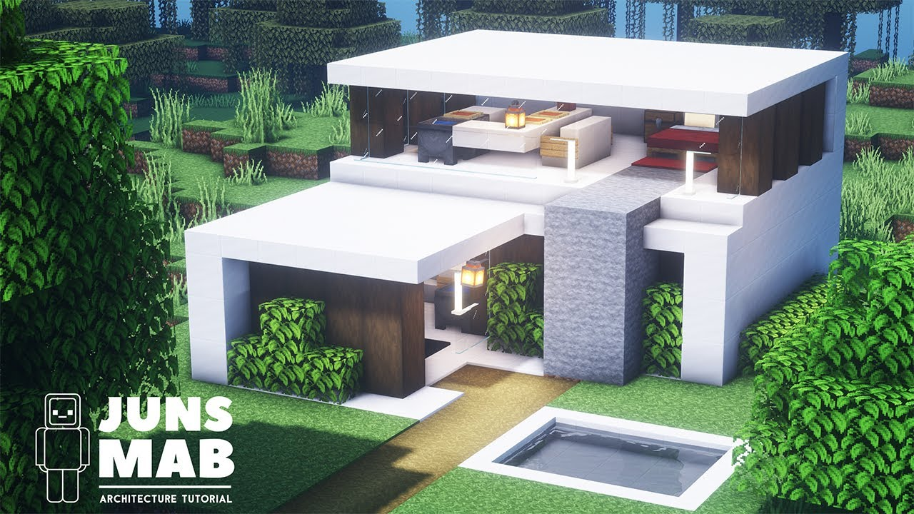 Minecraft smallest house how to build a Modern House in Minecraft (#135)