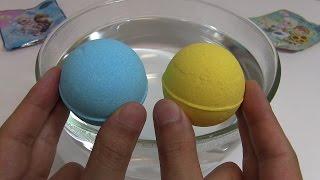 Frozen Anna and Elsa & Frozen Fever Bath Balls Surprise Egg ~ アナと雪の女王 エルサのサプライズ バスボール