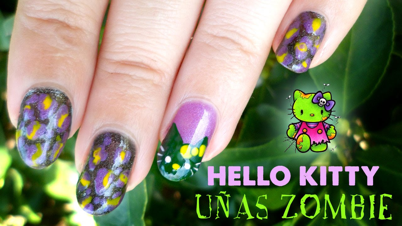 Asombroso Hello Kitty Uñas De Halloween Componente - Ideas Para ...