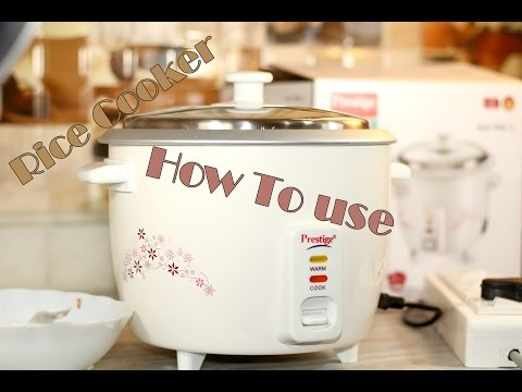 How To Use Rice Cooker to Cook Rice (using Prestige PRWO 1.5)