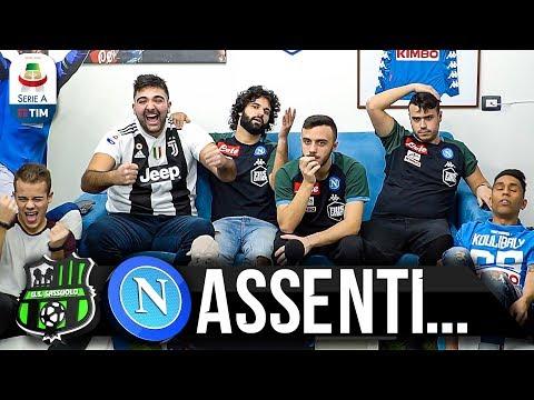 ASSENTI... SASSUOLO 1-1 NAPOLI | LIVE REACTION NAPOLETANI HD